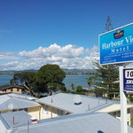 View over Tauranga's inner harbour looking out to Welcome Bay