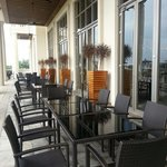 Outdoor dining at Clubhouse
