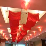 Chinese New Year ceiling decorations in foyer