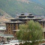 Taj Tashi Hotel - from balcony (room 301)