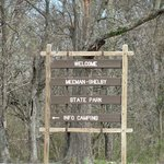 Welcome sign near visitor center