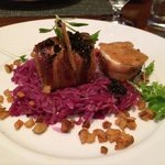 Pancetta Wrapped Monkfish with Red Cabbage & Rye Crouton