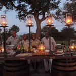 """Surpise champagne """"Sundowner"""" in the middle of the bush..."""