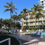 El sector del hotel que da al mar