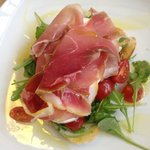 Our Bruschetta with Parma Ham