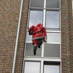 Санта за окном