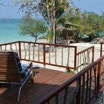 View from the corner beachfront villa
