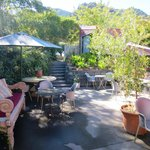Banco Espresso outdoor courtyard
