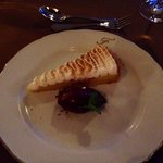French Tarte au Citron with Italian meringues and blackcurrant sorbet