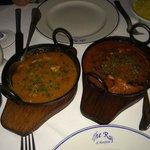 Chicken dhansak & chicken vindaloo
