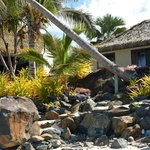 Our villa from beach below