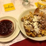 The Kaiserschmarren - kind of like a funnel cake with this amazing fruit spread