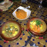 Lamb & apricot tagine and chicken & lemon tagine