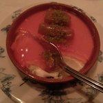 Rhubarb pannacotta. Historic!