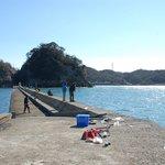 犬走島への道