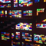 Stunning 70's stained glass window.