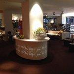 Sitteområde i lobbyen.