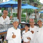 Pool Bar friendly staff
