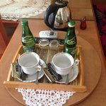 tea set and water