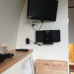 Wall mounted tv/dvd player and a mini pod hi-fi