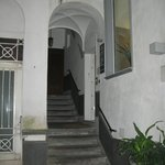 stairs leading up to BnB