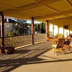 Great veranda with lot's of atmosphere.