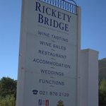 on the way to Rickety Bridge winery