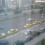 i taxi visti dalla nostra camera