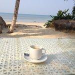 Morgenkaffe på hotellet