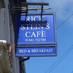 The sign about Ricks!