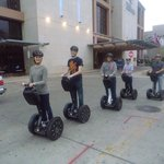 Guests enjoying downtown Austin on a Segway with Gliding Revolution, Austin Segway Tours!
