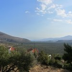 View from hut towards Itea and the Gulf of Corinth