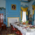 The Dining Room painted in Federal Blue