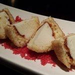 Delicious vanilla ice cream tempura