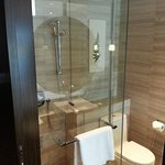 Small shower area