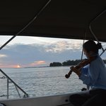 Violinist (private hire) was exquisite during the sail