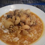 Supions curry, lait de coco, riz.