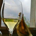 Wein mit Blick auf Ljubljana