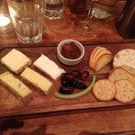 A truly tasty & generous cheese board...