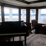 The music room with the lovely Harbour behind