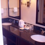 Granite counters, two sinks
