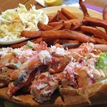 Awesome lobster roll at Brax Landing!