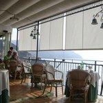 Restaurant terrace overlooking Amalfi
