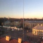 Вид из окна номера на Александро Невскую Лавру.