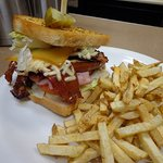 One of our Lunch Special:  The Heart Attack Club
