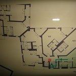 floor plan with junior suite 524