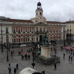 Puerta del Sol from our room (3rd floor)