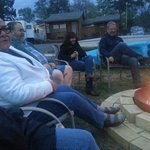 Friends at Scenic View, around the campfire.