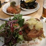 Pork belly / seafood chowder