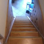 Steep stairs to reach the 2 upstairs bedrooms